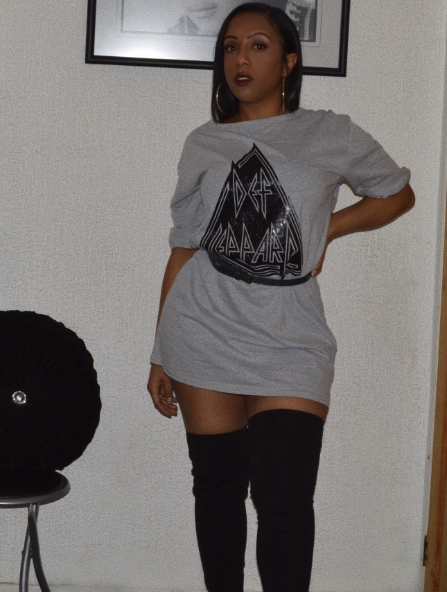 Grey T dress